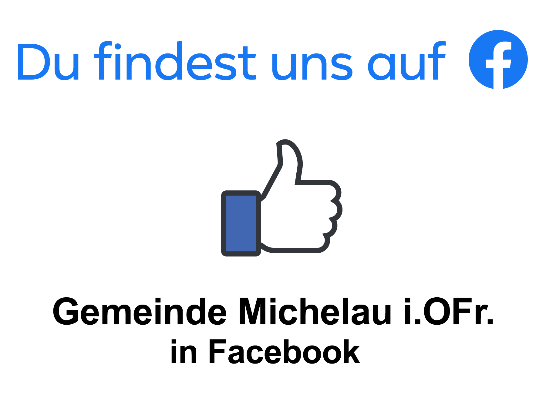 Gemeinde Michelau in Facebook (2019)